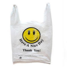 China Custom Printed Biodegradable Shopping Bags , PLA Degradable Plastic Bags supplier