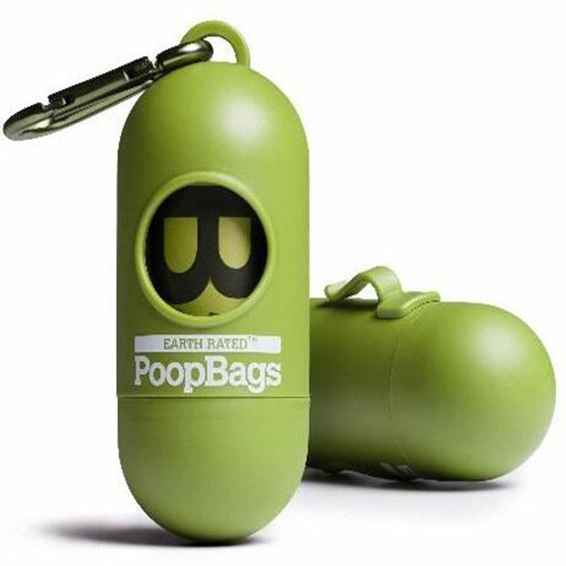 Biodegradable Pet Waste Bags With Dispenser , PLA Compostable Dog Poop Bags supplier
