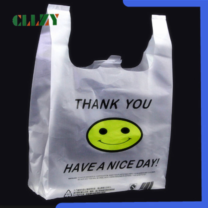 Plastic Compostable Shopping Bags , Custom Printed Packaging T Shirt Bag