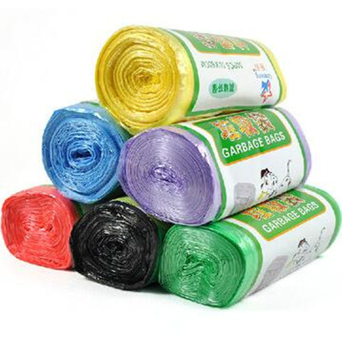 Non Toxic PLA Biodegradable Garbage Bags , Eco Friendly Flat Compostable Waste Bags